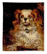 The Duke Of Marlborough. Portrait Of A Puppy Fleece Blanket