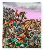 The Duke Of Monmouth At The Battle Of Sedgemoor Fleece Blanket
