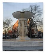 The Dupont Circle Fountain Without Water Fleece Blanket