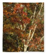 The Dying Leaves' Final Passion Fleece Blanket