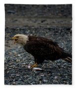 The Eagle And Its Prey Fleece Blanket