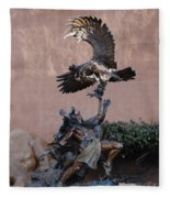 The Eagle And The Indian Fleece Blanket