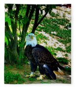 The Eagle Has Landed Fleece Blanket