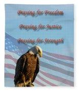 The Eagles Prayer Fleece Blanket