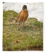 The Early Bird - Robin - Casper Wyoming Fleece Blanket
