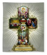 The Easter Cross Fleece Blanket