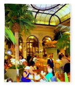 The Easter Holiday Tea At The Palm Court Fleece Blanket