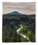 The Elberton View Fleece Blanket