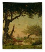 The Edge Of The Forest At Fontainebleau Fleece Blanket
