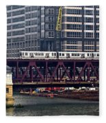 The El In Chicago Fleece Blanket