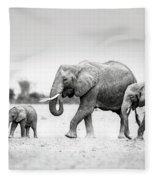 The Elephant Family Fleece Blanket