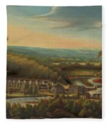 The Eli Whitney Gun Factory Fleece Blanket