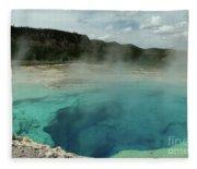 The Emerald Pool Colors Fleece Blanket