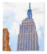 The Empire State Building 2 Fleece Blanket