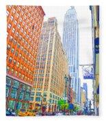 The Empire State Building 3 Fleece Blanket