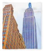 The Empire State Building 4 Fleece Blanket