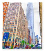 The Empire State Building 5 Fleece Blanket