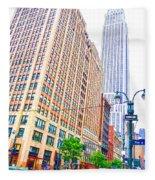 The Empire State Building 6 Fleece Blanket