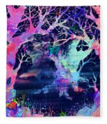 The Enchanted Wood Fleece Blanket
