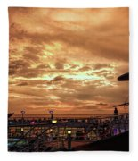 The End Of A Beautiful Day Fleece Blanket
