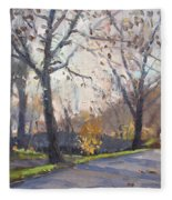 The End Of Fall At Three Sisters Islands Fleece Blanket