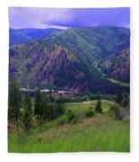 The Entiat Valley  Fleece Blanket