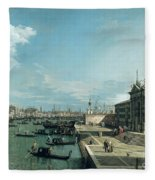 The Entrance To The Grand Canal And The Church Of Santa Maria Della Salute Fleece Blanket