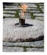 The Eternal Flame At President John F. Kennedy's Grave Fleece Blanket