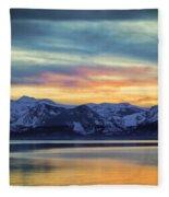 The Evening Colors Fleece Blanket