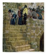 The Evil Counsel Of Caiaphas Fleece Blanket