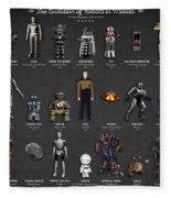 The Evolution Of Robots In Movies Fleece Blanket