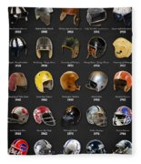 The Evolution Of The Nfl Helmet Fleece Blanket