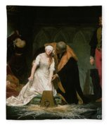 The Execution Of Lady Jane Grey Fleece Blanket