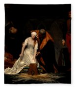 The Execution Of Lady Jane Grey In The Tower Of London In The Year 1554 Fleece Blanket
