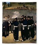 The Execution Of The Emperor Maximilian Fleece Blanket