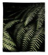 The Exotic Dark Jungle Fleece Blanket