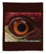 The Eye Of The Crane Fleece Blanket