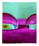 The Eye Of The Petal II Fleece Blanket