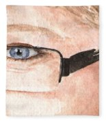 The Eyes Have It - Donna Fleece Blanket