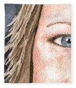 The Eyes Have It - Jill Fleece Blanket