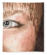 The Eyes Have It - Shelly Fleece Blanket