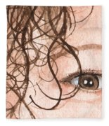 The Eyes Have It - Stacia Fleece Blanket
