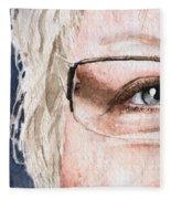 The Eyes Have It - Vickie Fleece Blanket