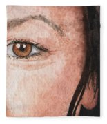 The Eyes Have It- Jessica Fleece Blanket