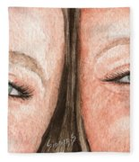 The Eyes Have It- K And K Fleece Blanket