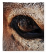 The Eye Of A Burro Fleece Blanket