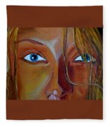 The Eyes Of The Muse Fleece Blanket