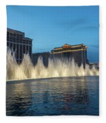 The Fabulous Fountains At Bellagio - Las Vegas Fleece Blanket