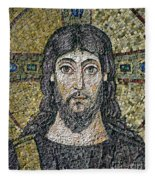The Face Of Christ Fleece Blanket