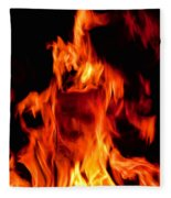 The Face Of Fire Fleece Blanket